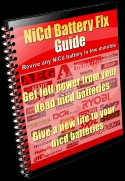 Product picture Cash Register NiCd Battery Repair Instructions Fix NiCad Battery